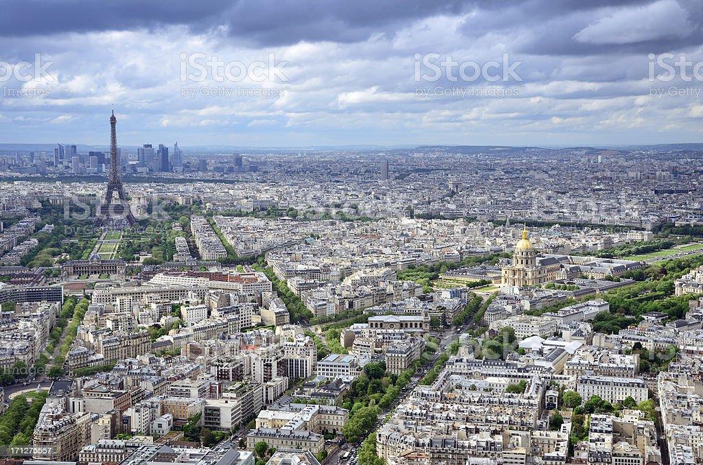 Cityscape of Paris royalty-free stock photo