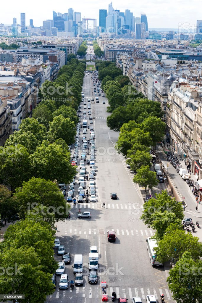 Cityscape of Paris stock photo