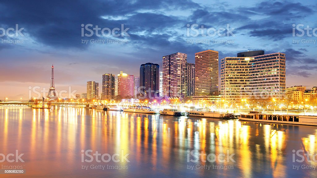 Cityscape of Paris with Eiffel Tower stock photo