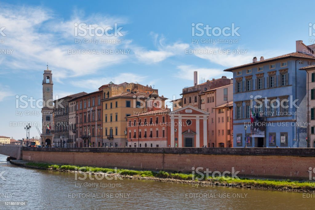 Cityscape of Pisa in Italy - Royalty-free Architecture Stock Photo