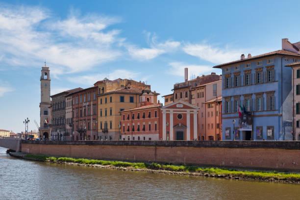 Cityscape of Pisa in Italy stock photo