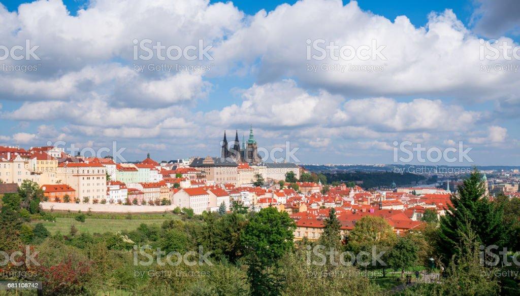 cityscape of Prague royalty-free stock photo