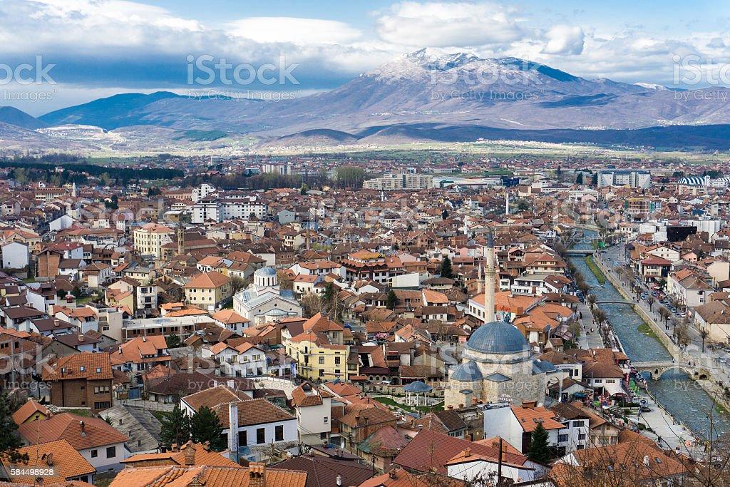 Cityscape of Prizren, Kosovo royalty-free stock photo
