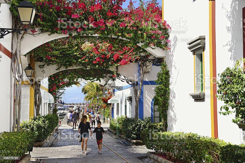Cityscape of Puerto de Mogan in Gran Canaria (Spain) royalty-free stock photo