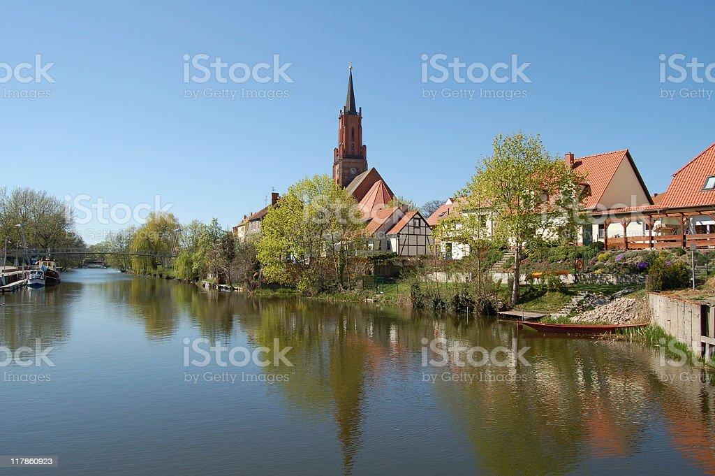 cityscape of Rathenow (Germany) royalty-free stock photo