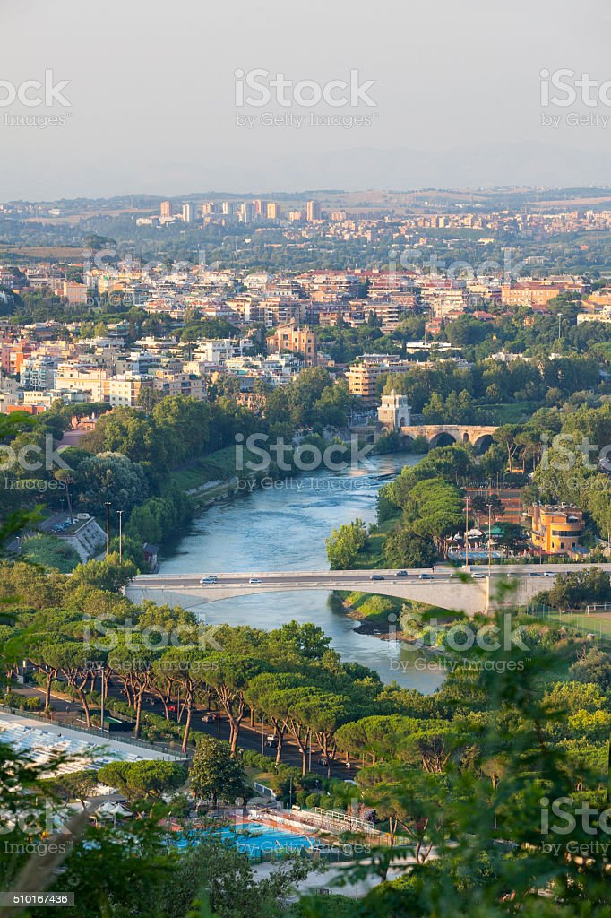 Cityscape of Rome, Italy stock photo