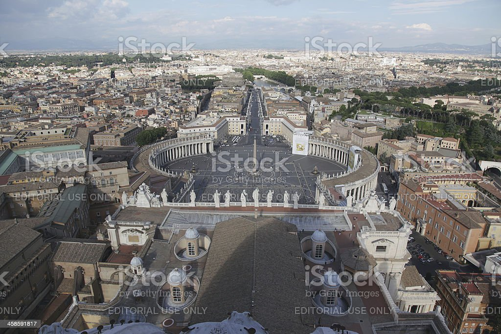 Cityscape of Rome stock photo