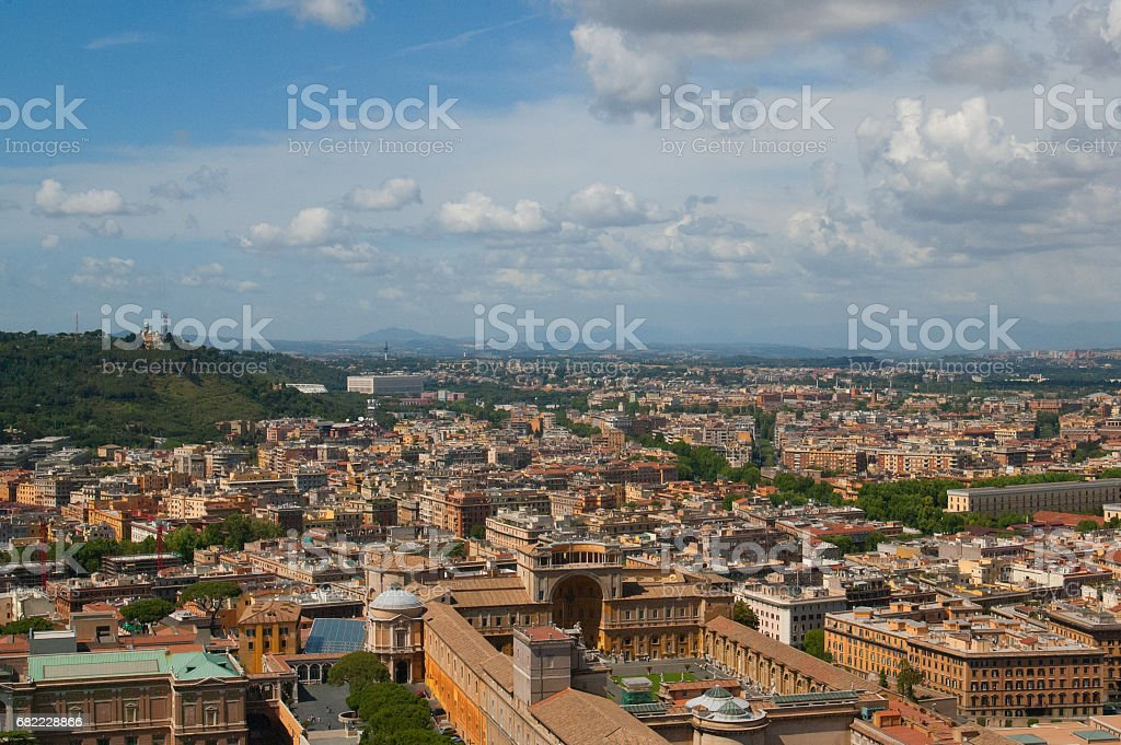 Cityscape of Rome with skyline стоковое фото
