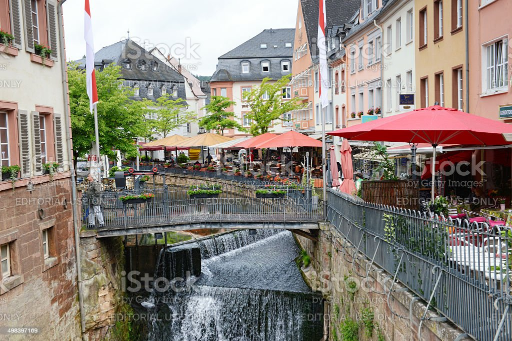 Cityscape of Saarburg stock photo
