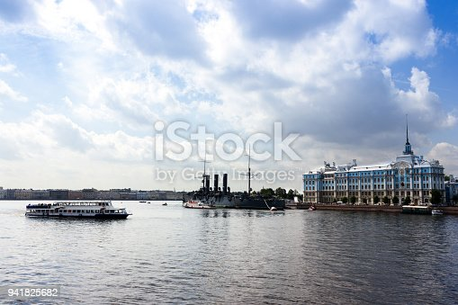 Summer cityscape of culture capital of Russia - Saint-Petersburg at sunny day