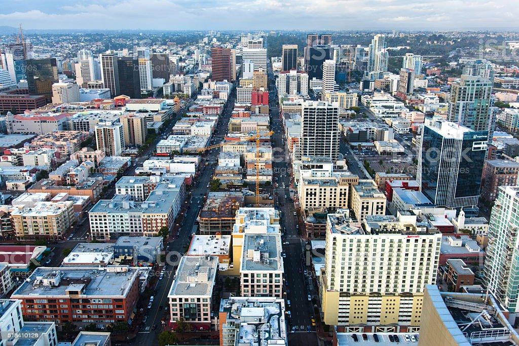Cityscape of San Diego California stock photo