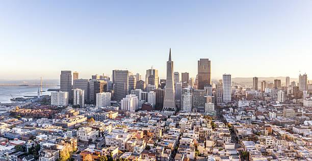 cityscape of San Francisco and skyline stock photo