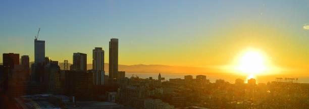 Cityscape of San Fransisco, California stock photo