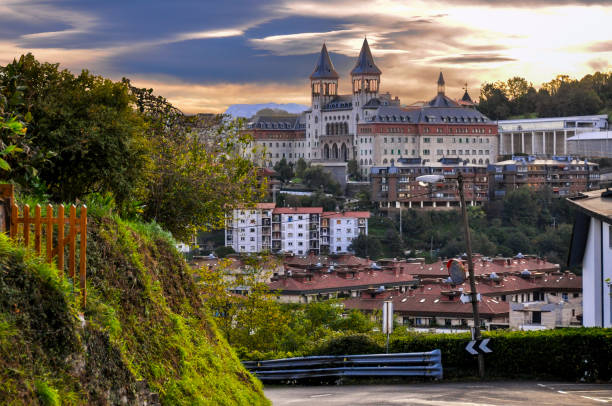 Cityscape of San Sebastian or Donostia, Basque country of Spain stock photo