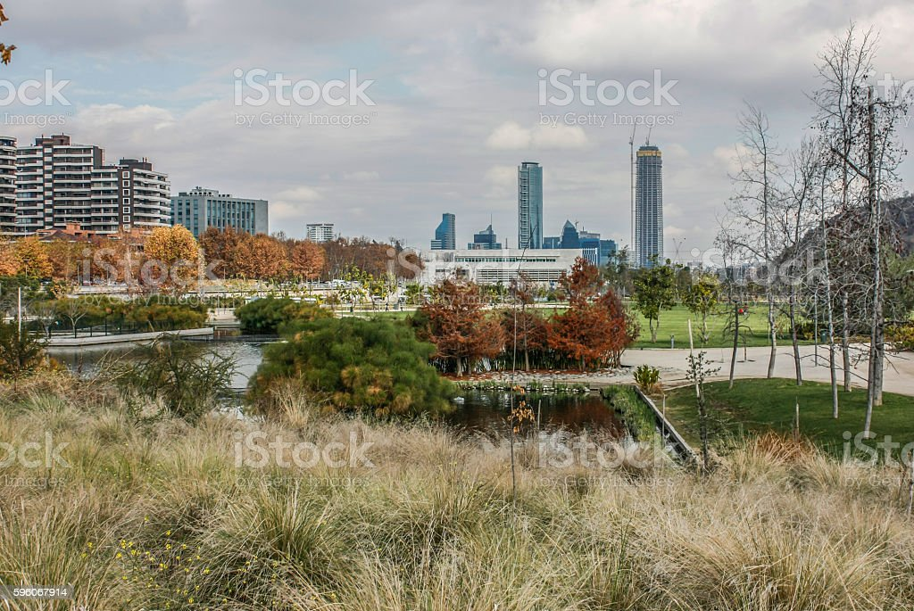 Cityscape  of Santiago, Chile royalty-free stock photo