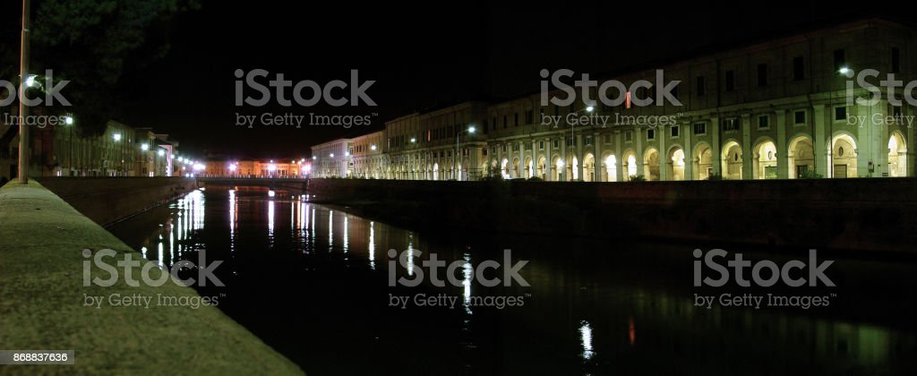 cityscape of Senigallia - Italy stock photo