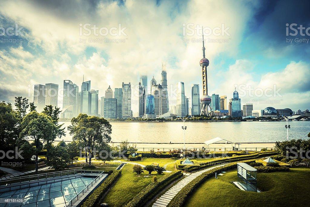cityscape of shanghai royalty-free stock photo