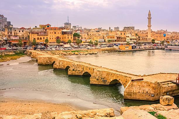 ville de sidon saida liban - liban photos et images de collection