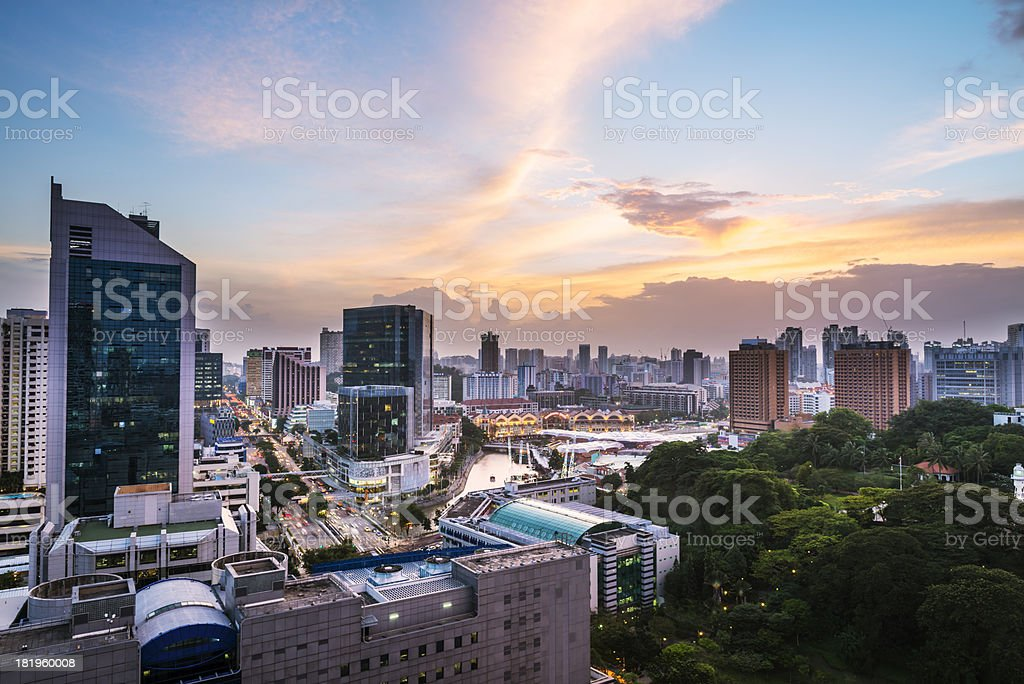 cityscape of singapore royalty-free stock photo