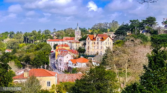 Sintra is a town and municipality in the Greater Lisbon region of Portugal, located on the Portuguese Riviera. Photo was made in March 10, 2018 in Sintra, Portugal