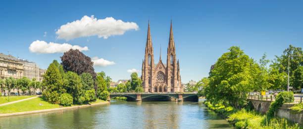 Cityscape of Strasbourg - France stock photo