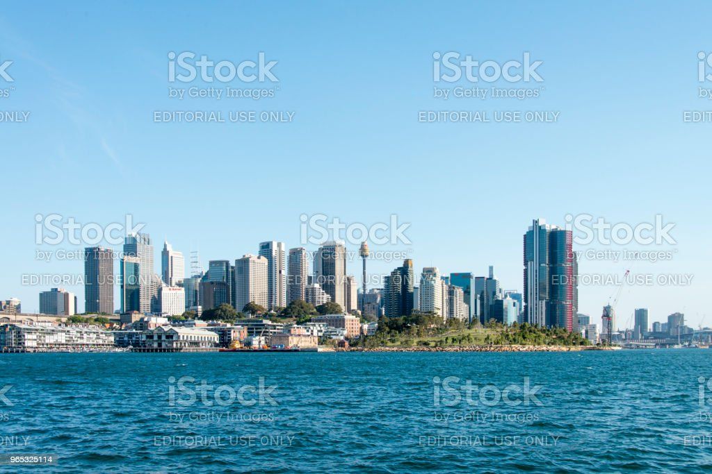 Cityscape of Sydney Downtown royalty-free stock photo