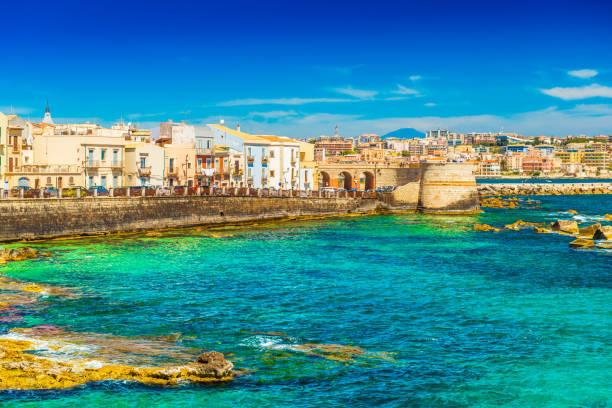 Cityscape of Syracuse (Siracusa), Sicily, Italy stock photo