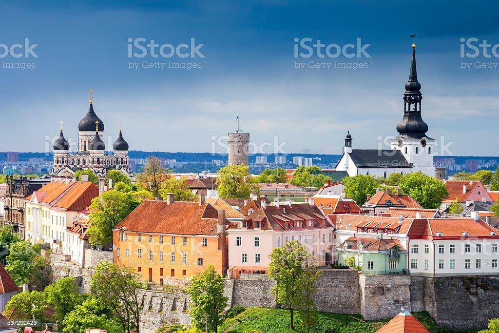 Cityscape of Tallinn. Estonia stock photo