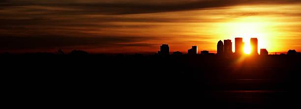 Cityscape of Tampa stock photo