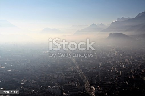 photography taken from the Bastille, in the Chartreuse mountain