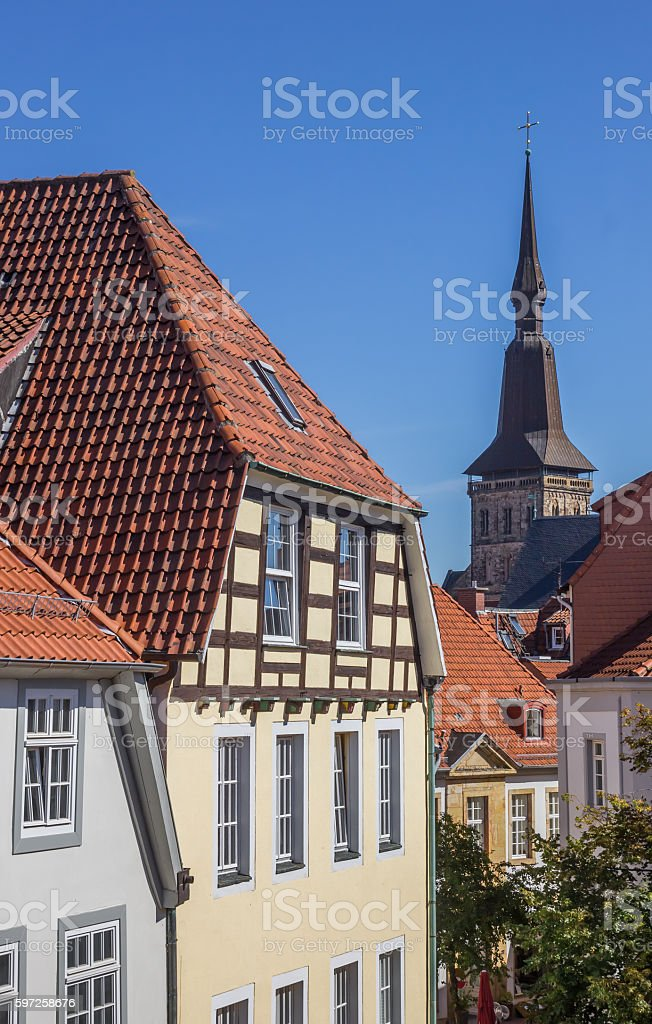 Cityscape of the historical center of Osnabruck stock photo