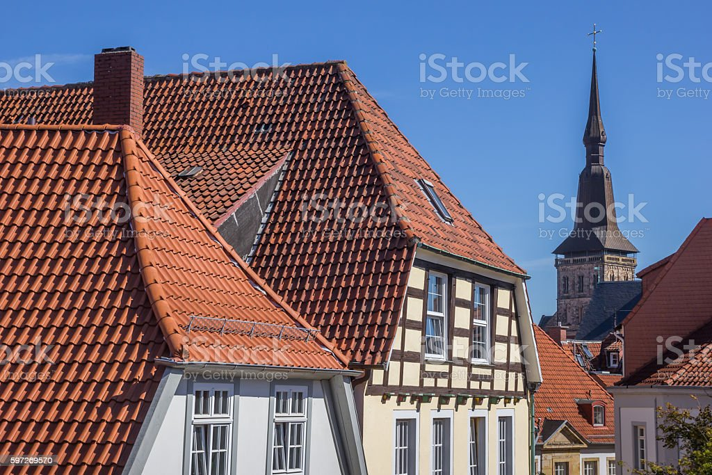 Cityscape of the historical center of Osnabruck Lizenzfreies stock-foto