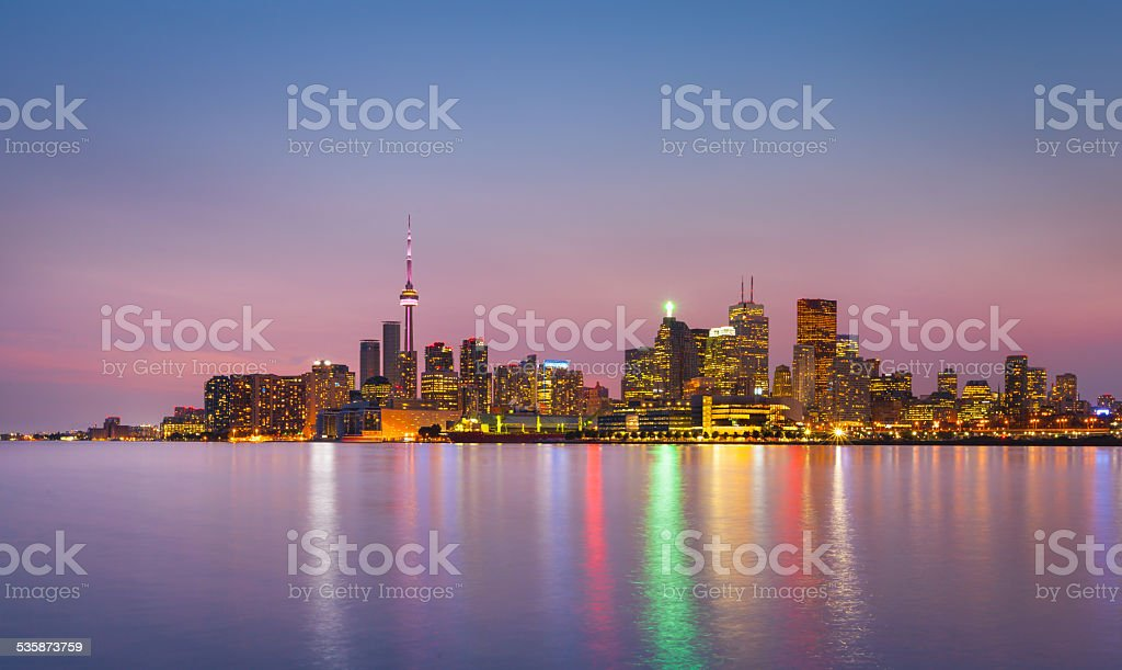 Cityscape of Toronto, Canada stock photo