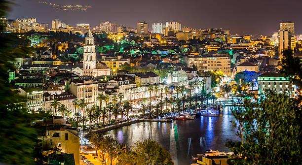 Cityscape of town Split. – Foto