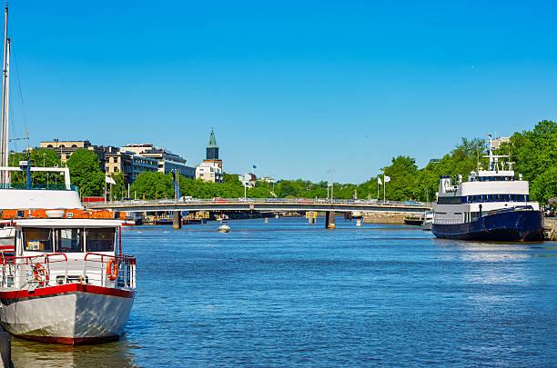 Cityscape of Turku. Finland stock photo