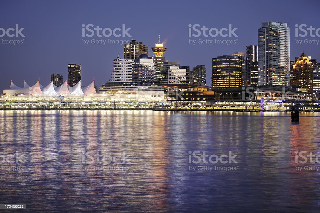 cityscape of Vancouver and River stock photo