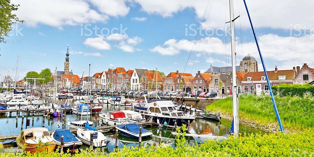 cityscape of Veere (Zeeland, Netherlands) stock photo