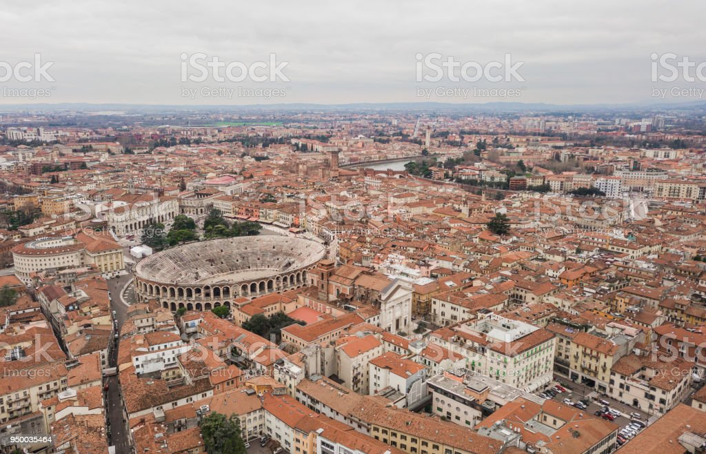 Cityscape of Verona - foto stock