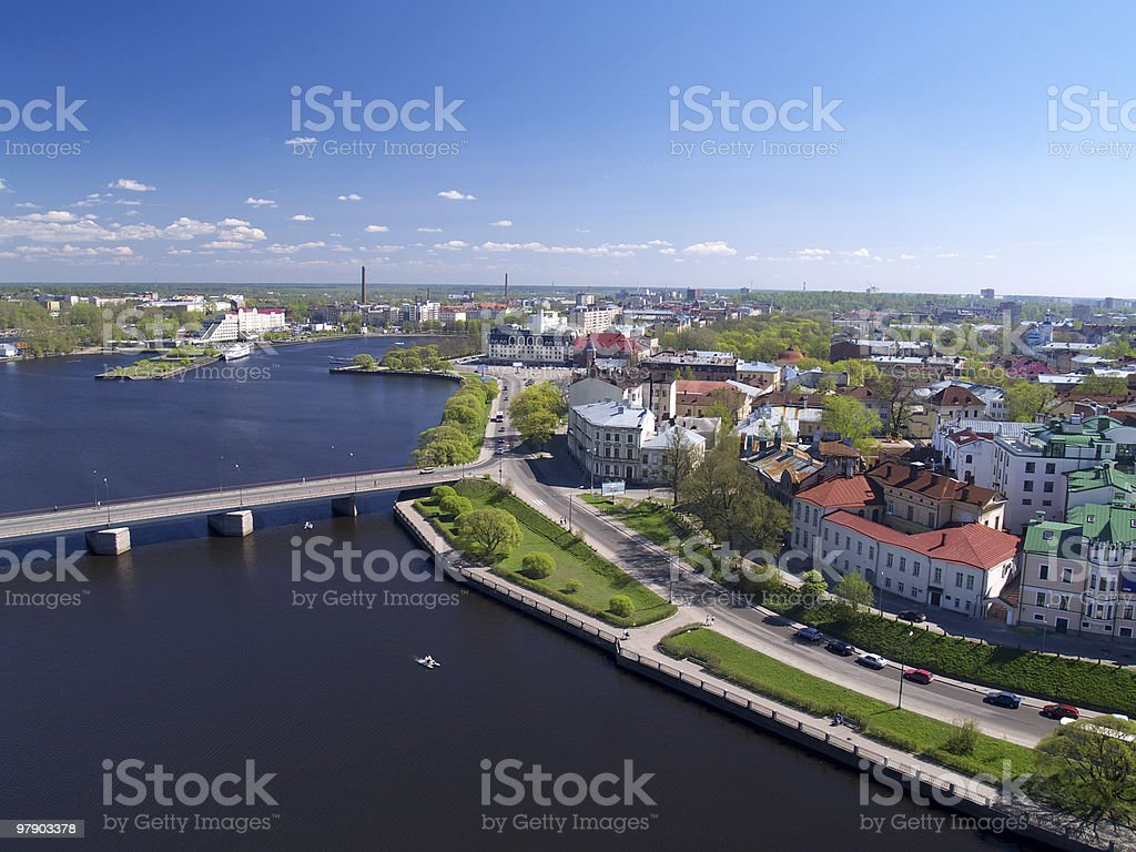 Cityscape of Viborg, Russia royalty-free stock photo