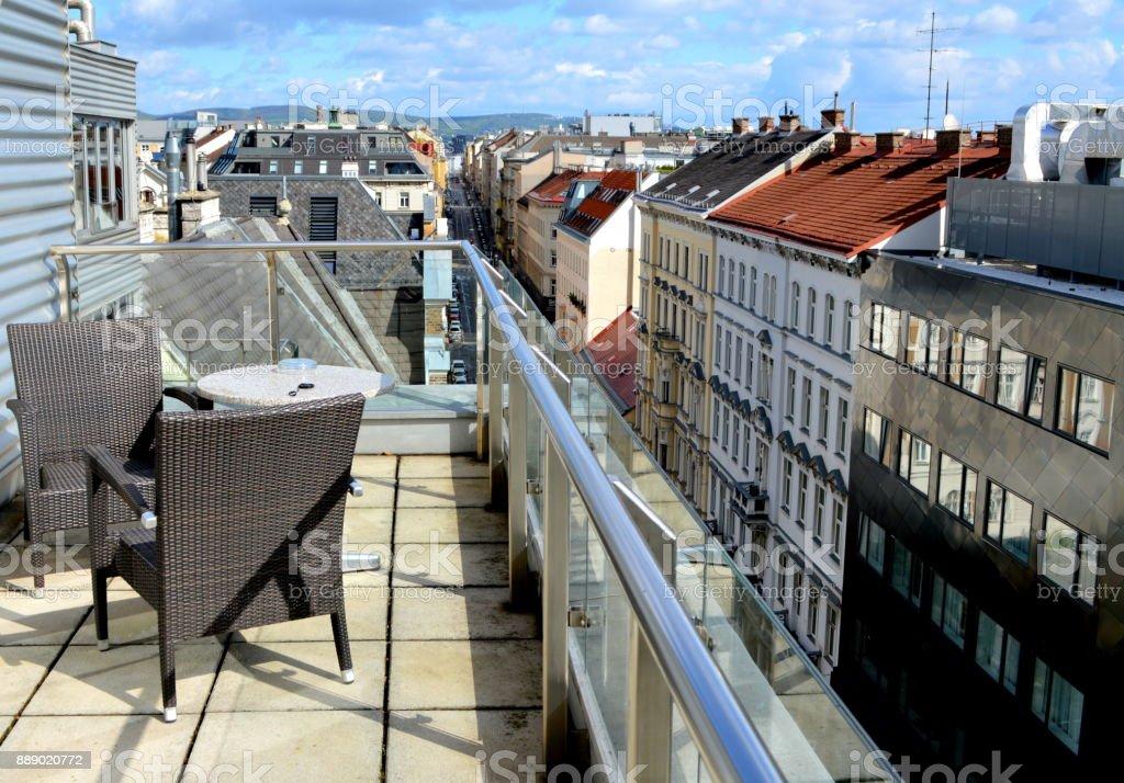 Cityscape of Vienna, Austria stock photo