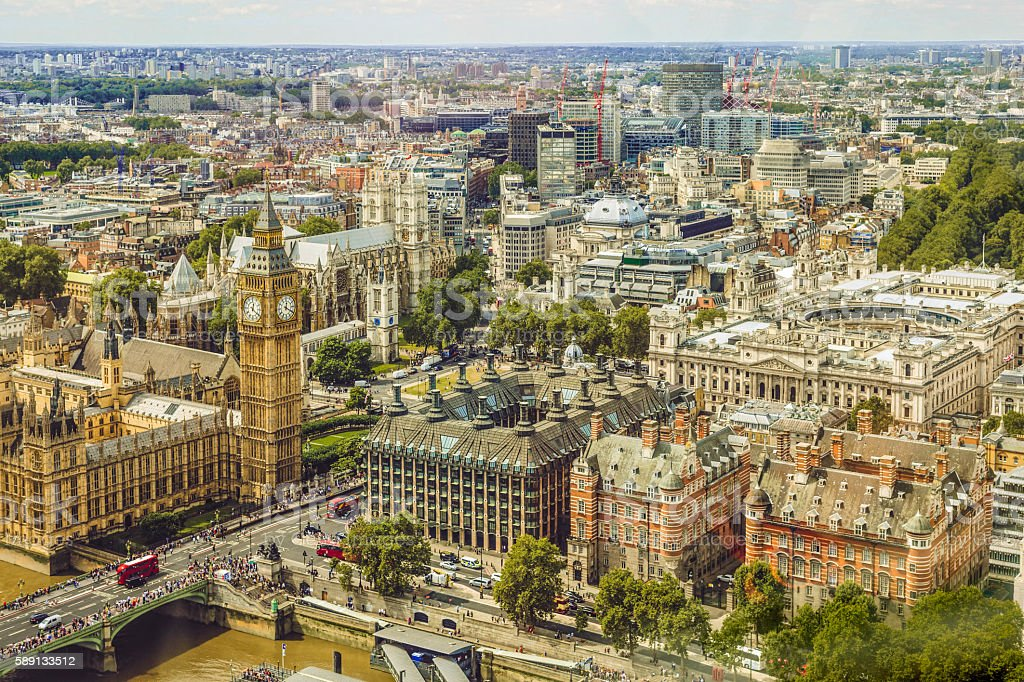 Cityscape of Westminster, London stock photo