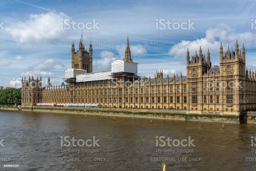 Cityscape Of Westminster Palace And Thames River London England United Kingdom Royalty