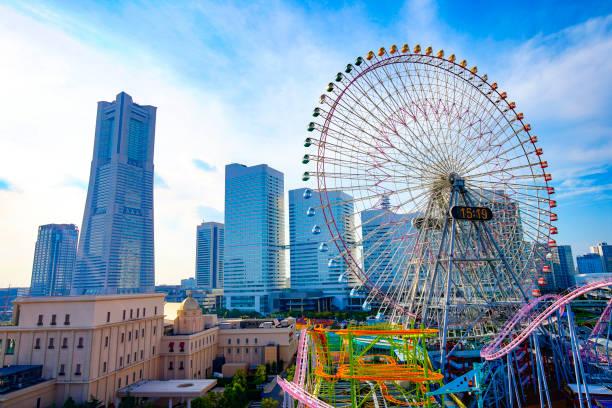 Stadtbild von Yokohama MinatoMirai in Yokohama City, Präfektur Kanagawa, Japan – Foto