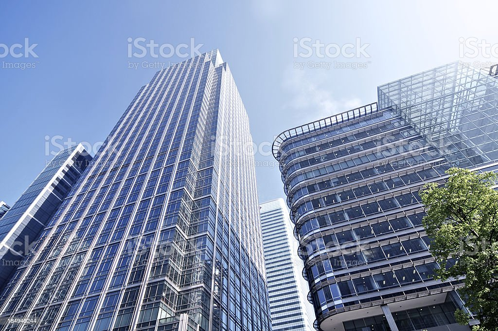 Cityscape Office Towers royalty-free stock photo
