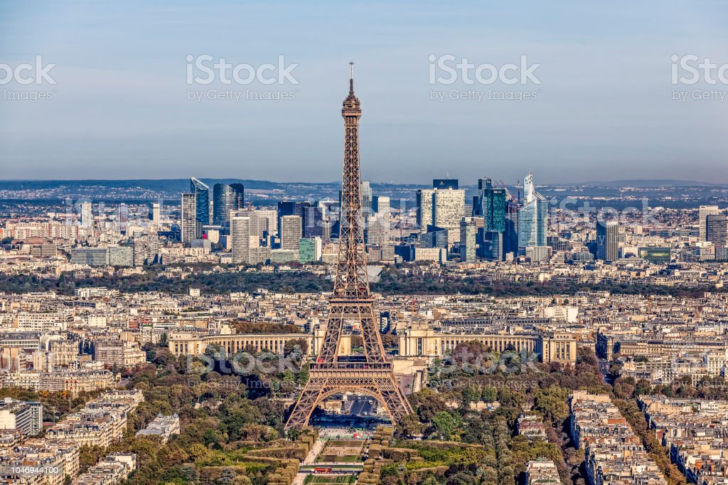 Cityscape Panorama With Eiffel Tower Paris France Stock Photo Download Image Now Istock