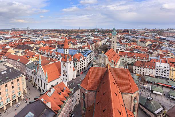 cityscape - sankt peterskyrkan münchen bildbanksfoton och bilder