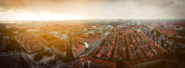 stadsbild - drone copenhagen bildbanksfoton och bilder