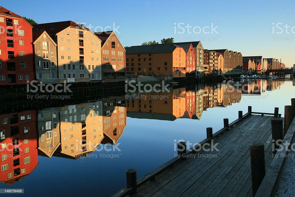 Cityscape Reflections stock photo