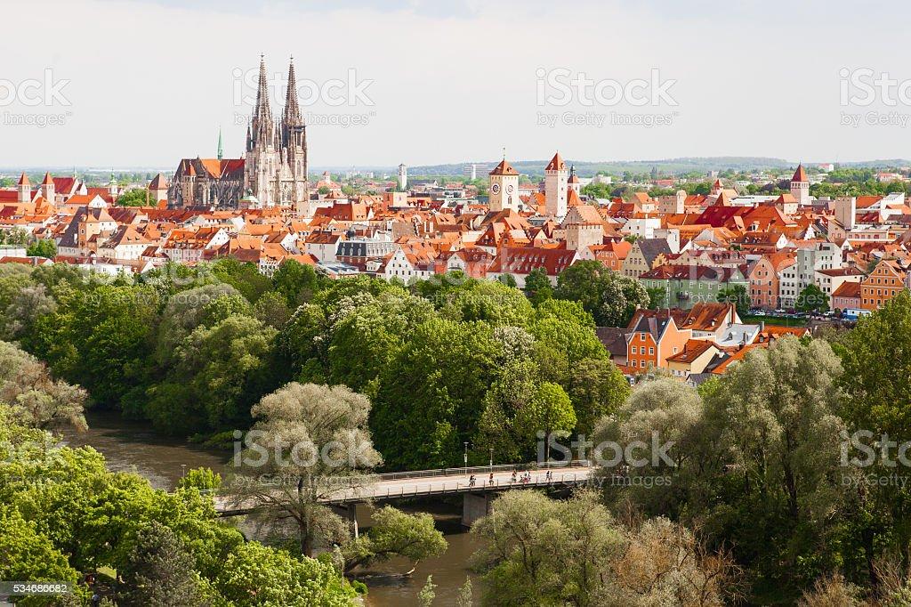 Cityscape Regensburg stock photo