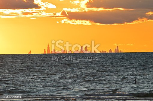 Indiana Sand Dunes city scape of Chicago